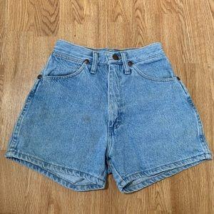 Vintage tiny wrangler jean shorts